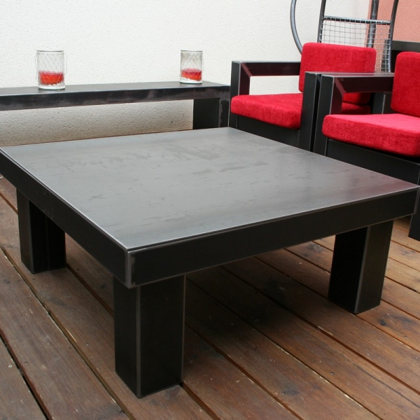 Table basse industrielle