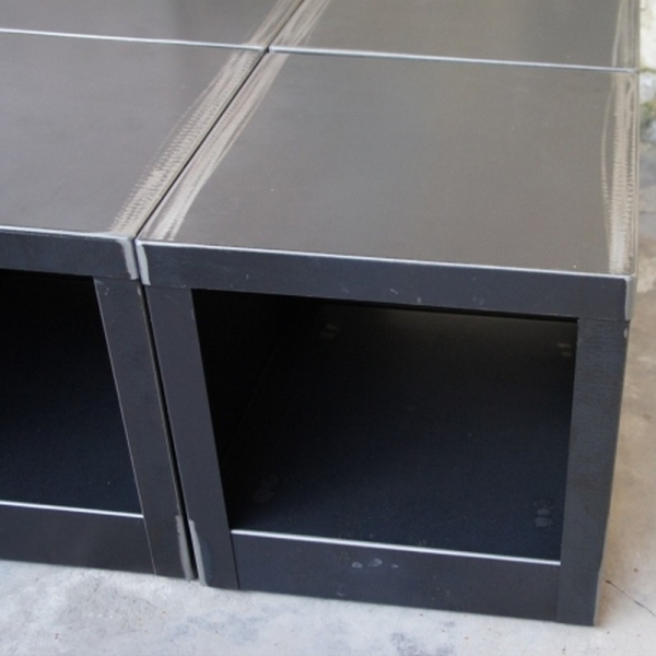 Table cube metal table basse design table basse m tal - Cube table basse ...