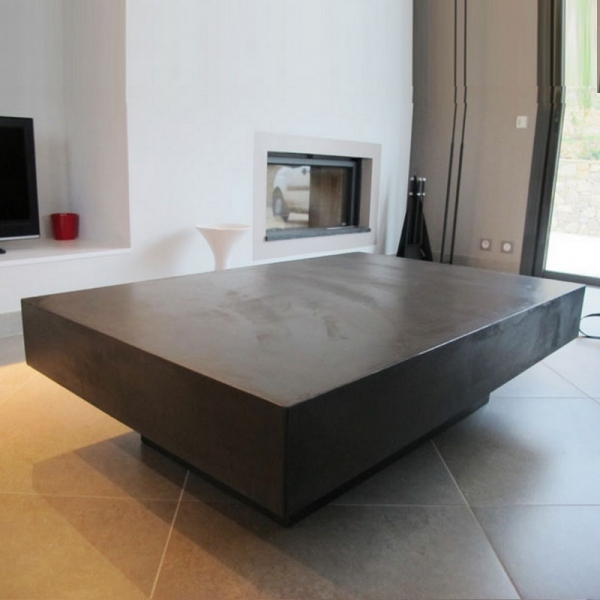 Table basse béton design