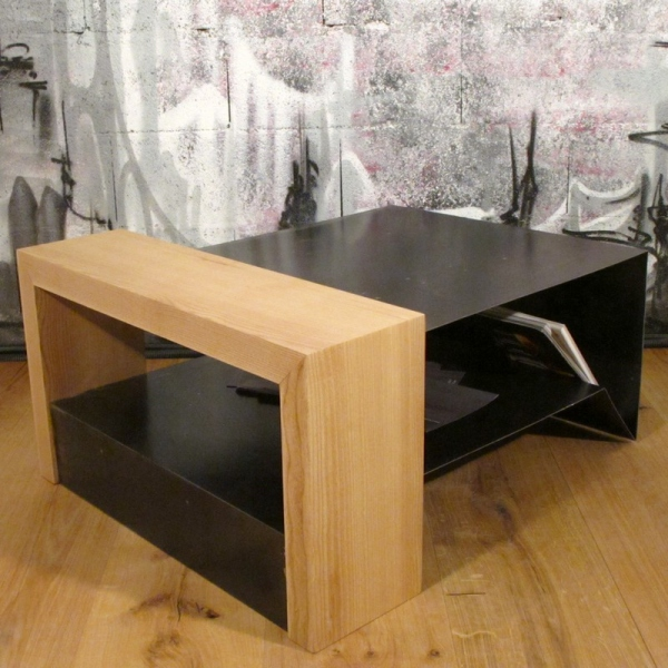 Table Basse Design Bois.Table Basse Bois Et Metal