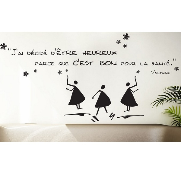 sticker mural citation bonheur sticker citation. Black Bedroom Furniture Sets. Home Design Ideas