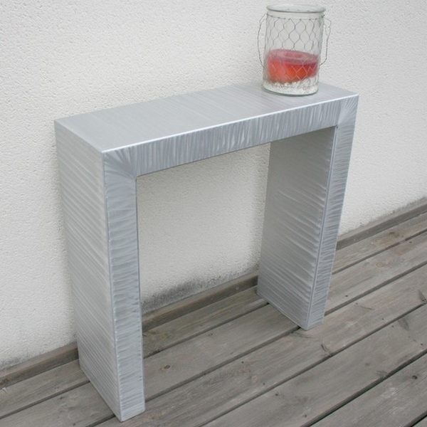 Table aluminium