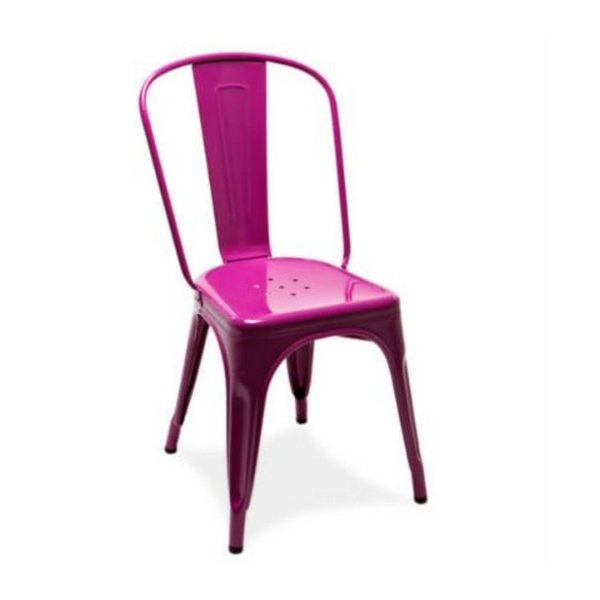 4 Chaise A Tolix rose