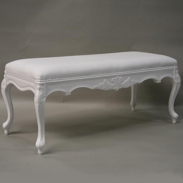 Banc style baroque louis bench meuble design for Meuble baroque