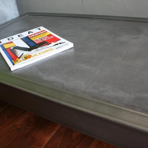 Table basse béton rectangle