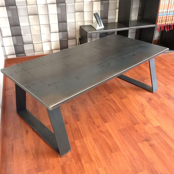 Table basse m tal industrielle table basse design - Table basse metal industriel loft ...