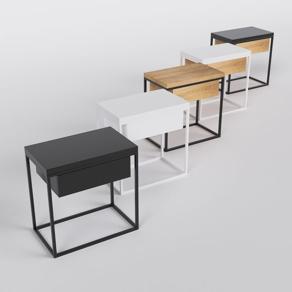 Table de chevet design Moon