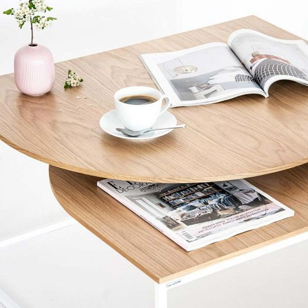 Table basse blanche design