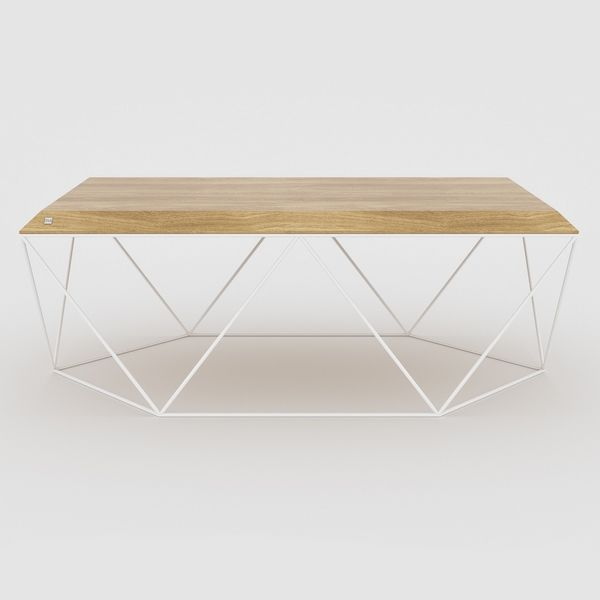 Table basse rectangle bois clair
