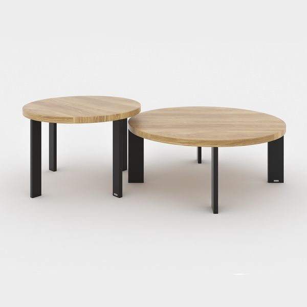 Tables basses design rondes DUO