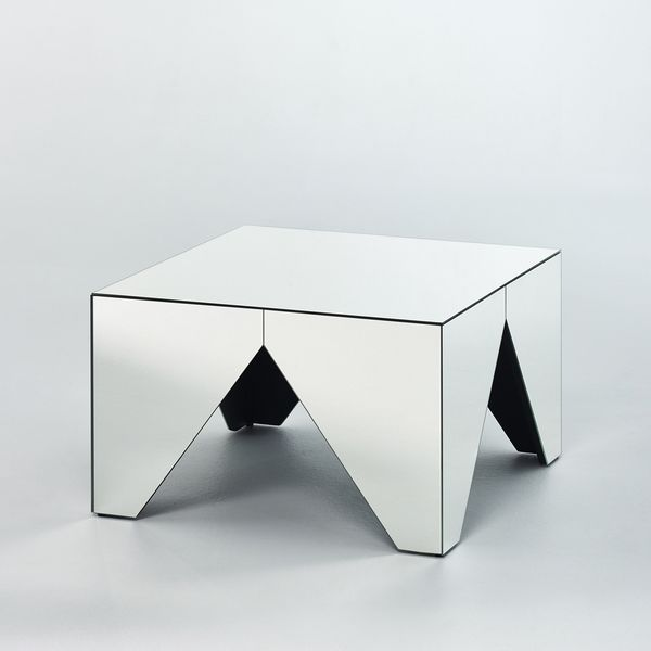 Table basse miroir