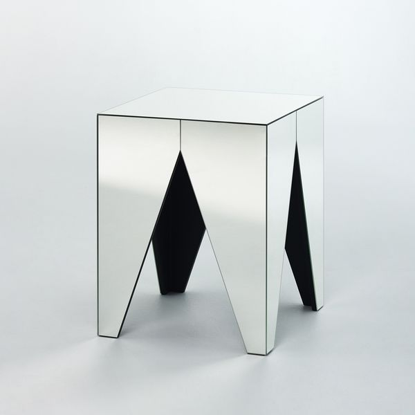 Table d'appoint miroir