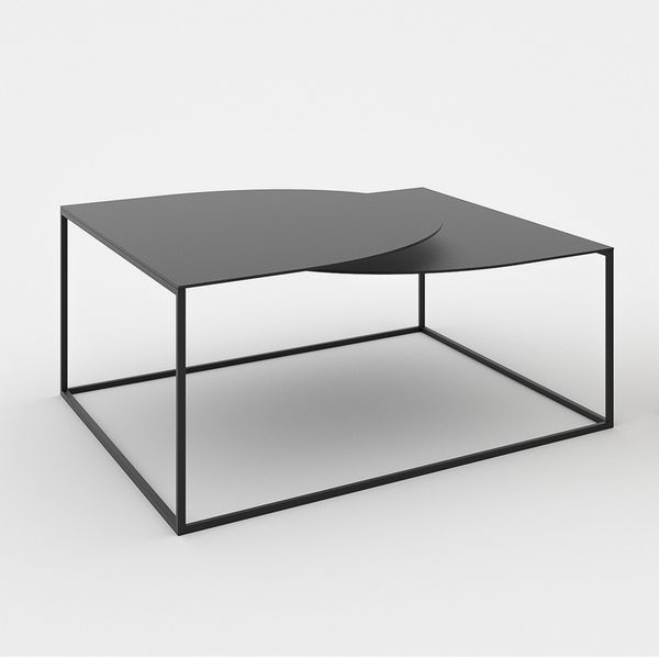 Table basse noire design