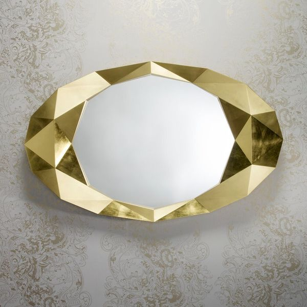 Miroir diamant or