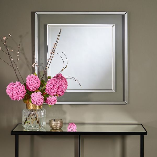 Miroir design transparent 90 cm