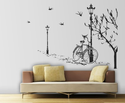sticker mural lampadare et v lo stickers design. Black Bedroom Furniture Sets. Home Design Ideas