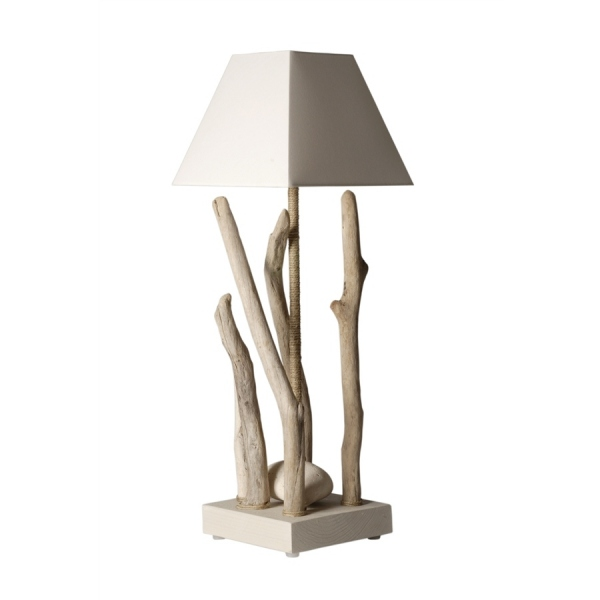 Lampe en ch ne upline xl luminaire design for Lampe en bois flotte creation