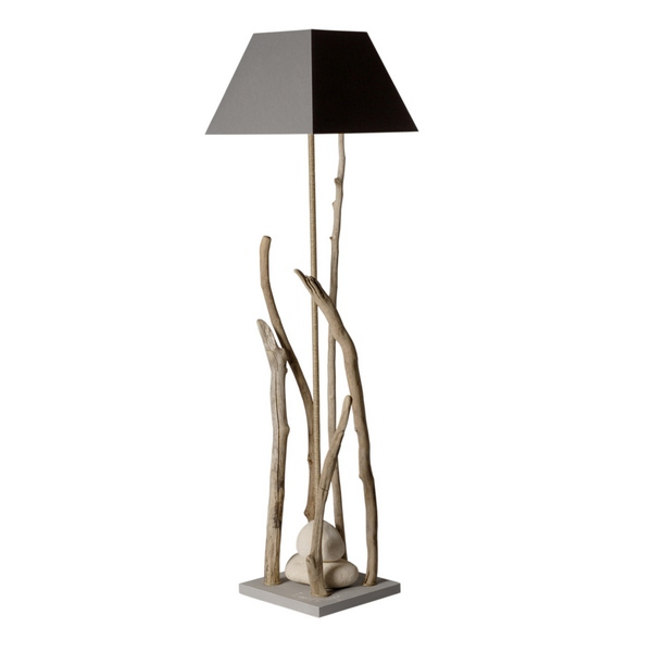 Lampe bois flott lampe design d co loft for Suspension en bois flotte pas cher