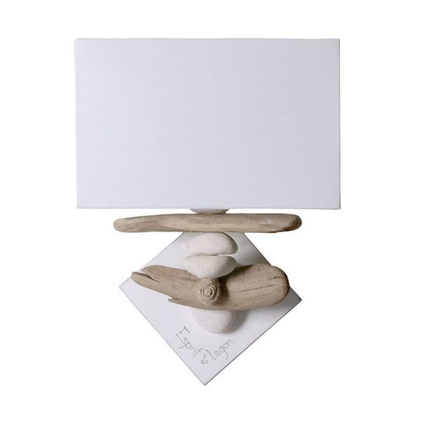 Lampe applique bois flott lampe design applique design for Lampe design bois flotte