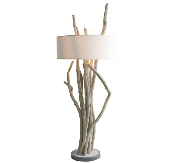 Lampe bois flott design lampe design for Lampe en bois flotte creation