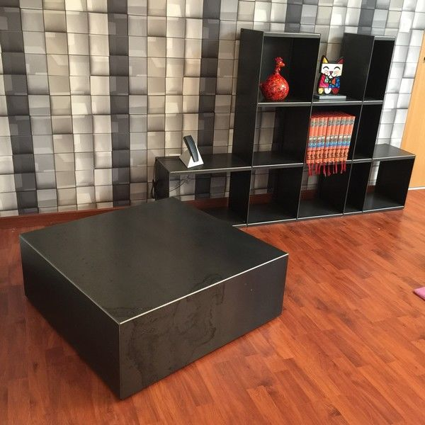 table basse cube m tal sur roulettes table basse m tal table basse design. Black Bedroom Furniture Sets. Home Design Ideas