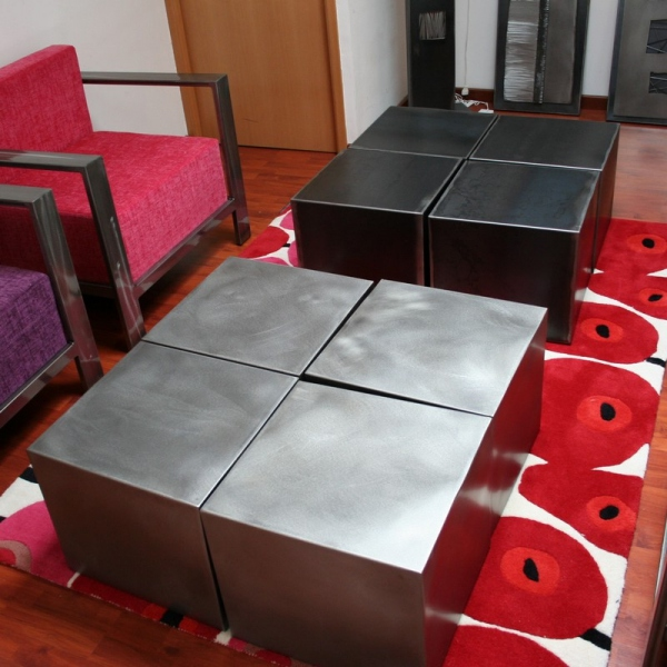 Table design 4 cubes