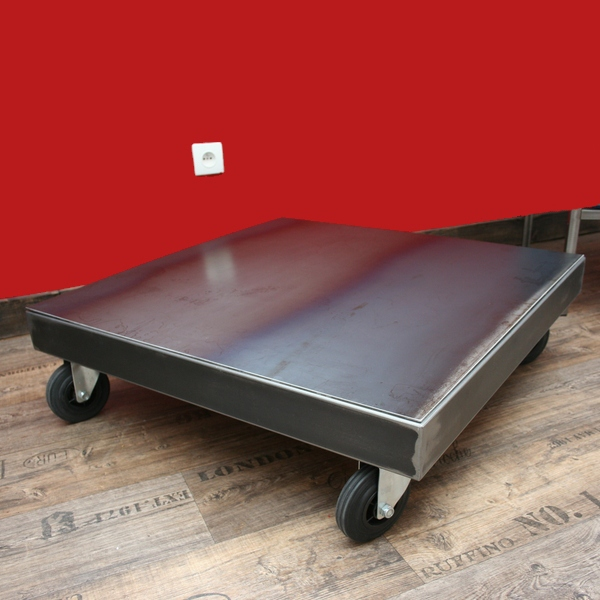 Table Basse Metal Sur Roulettes Table Basse Design