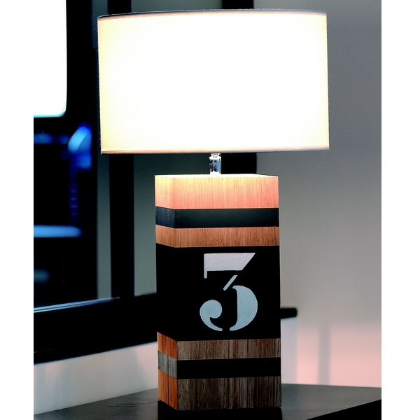 lampe de table en bois l luminaire design. Black Bedroom Furniture Sets. Home Design Ideas