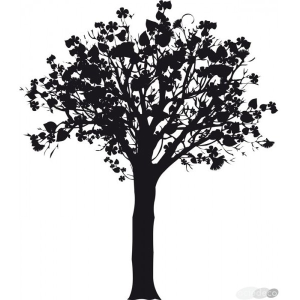 sticker design arbre sticker mural. Black Bedroom Furniture Sets. Home Design Ideas