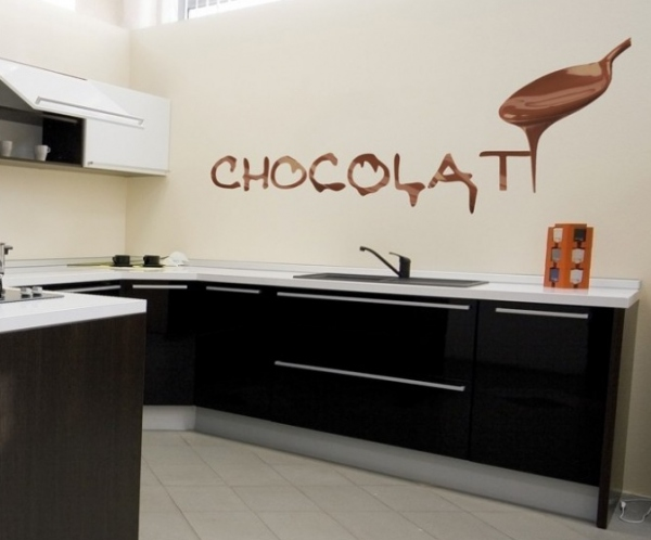 Sticker Mural Chocolat Stickers Cuisine
