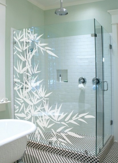 Stickers vitre stickers design stickers deco decor for Vitre salle de bain