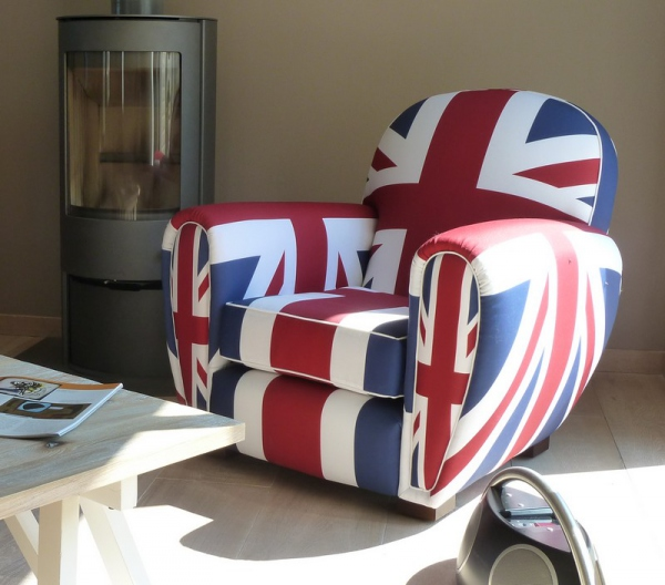 fauteuil club tissu union jack fauteuil design. Black Bedroom Furniture Sets. Home Design Ideas