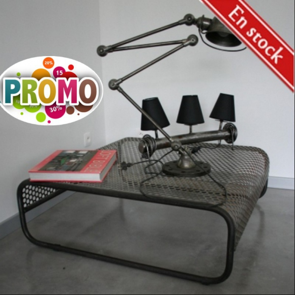 Table basse métal design