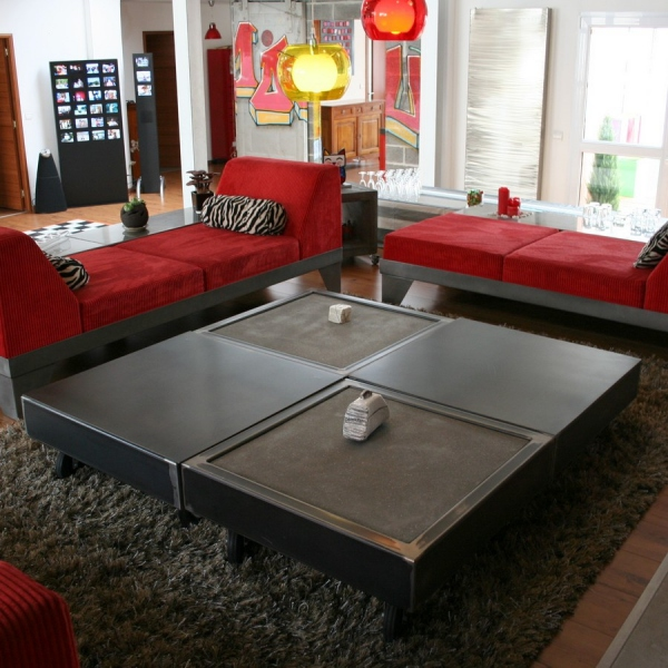 table basse b ton mobilier m tal salon design loftboutik. Black Bedroom Furniture Sets. Home Design Ideas
