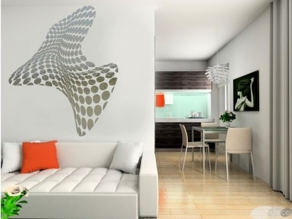 Sticker mural 3d stickers design for 3 suisses decoration murale
