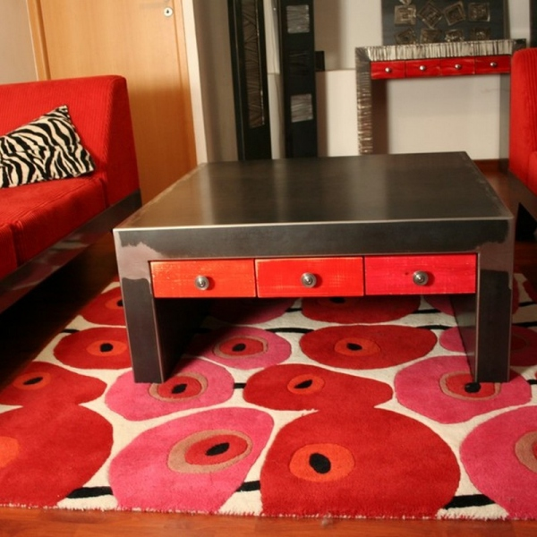 table salon métal design