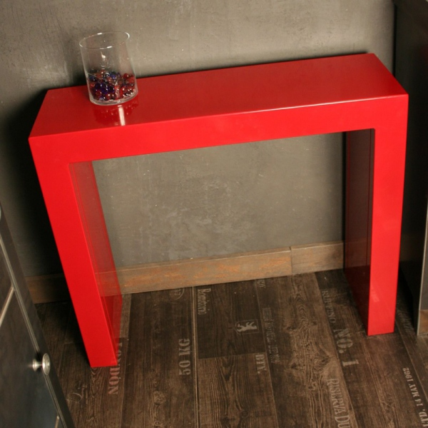 table console rouge. Black Bedroom Furniture Sets. Home Design Ideas