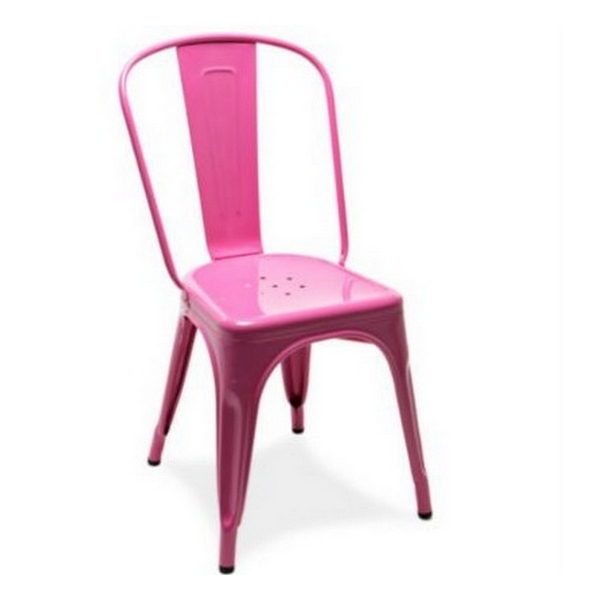 Chaise A Tolix rose