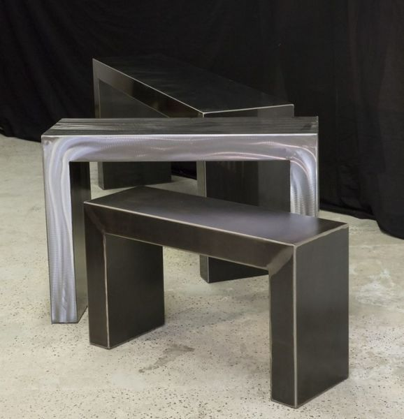 Console metal meuble console table console design for Console meuble design