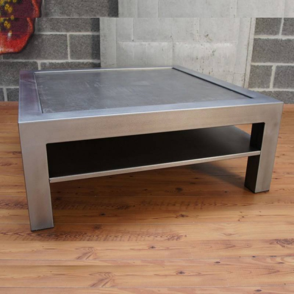 Table basse metal table basse design table basse industrielle - Table salon bois metal ...