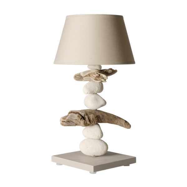 lampe de chevet bois flott beige lampe bois flott luminaire design. Black Bedroom Furniture Sets. Home Design Ideas