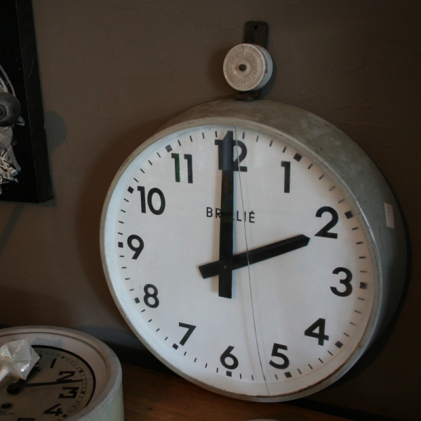 Horloge brilli mobilier industriel d co loft for Horloge murale style industriel