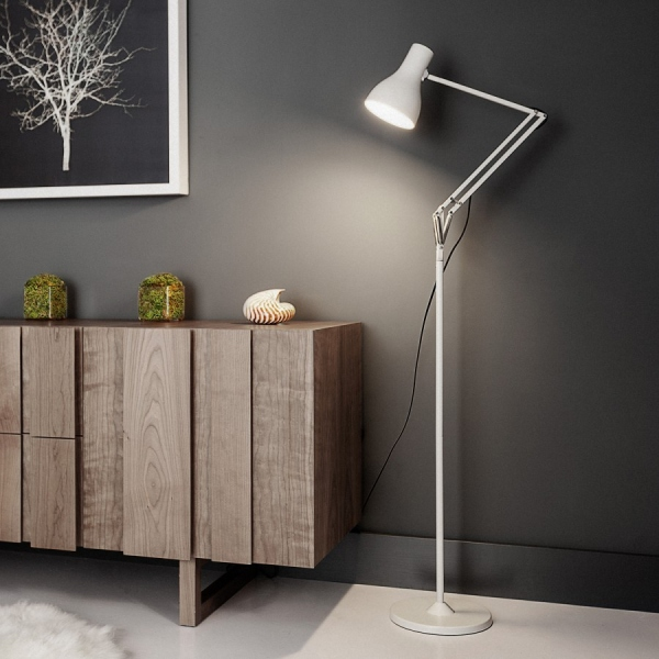 lampadaire anglepoise blanc type 75 anglepoise. Black Bedroom Furniture Sets. Home Design Ideas