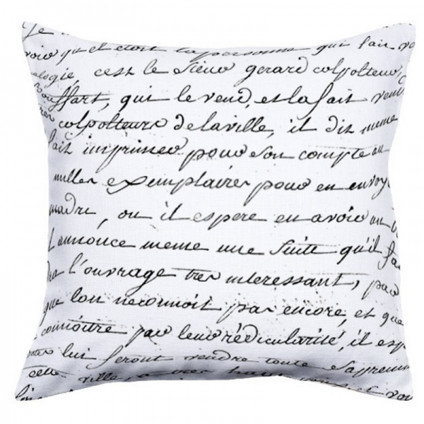 coussin calligraphie