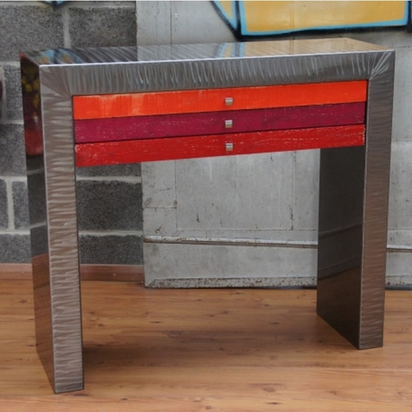 Meuble console metal
