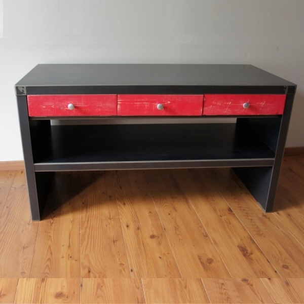 commode console 14 tiroirs meuble design commode design console design. Black Bedroom Furniture Sets. Home Design Ideas