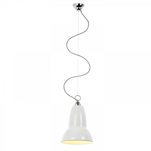 Suspension anglepoise blanche