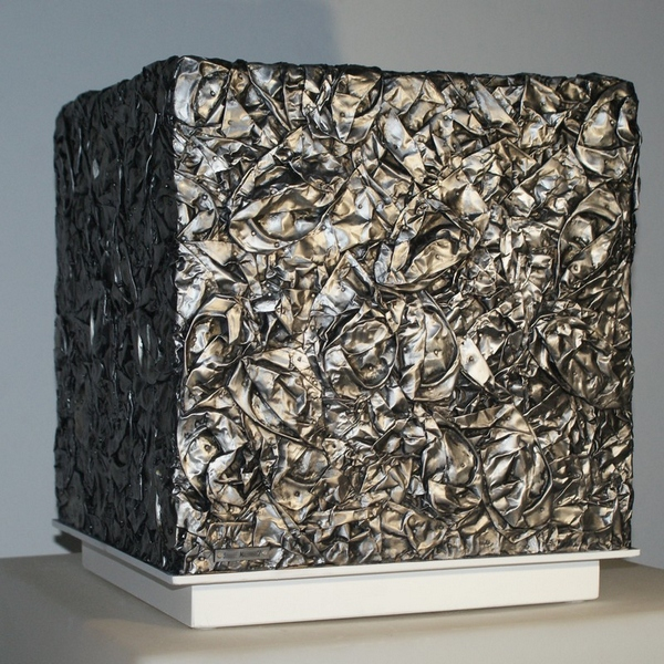 Sculpture metal cube