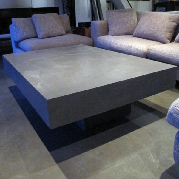 table basse b ton gris clair table basse b ton table basse design. Black Bedroom Furniture Sets. Home Design Ideas
