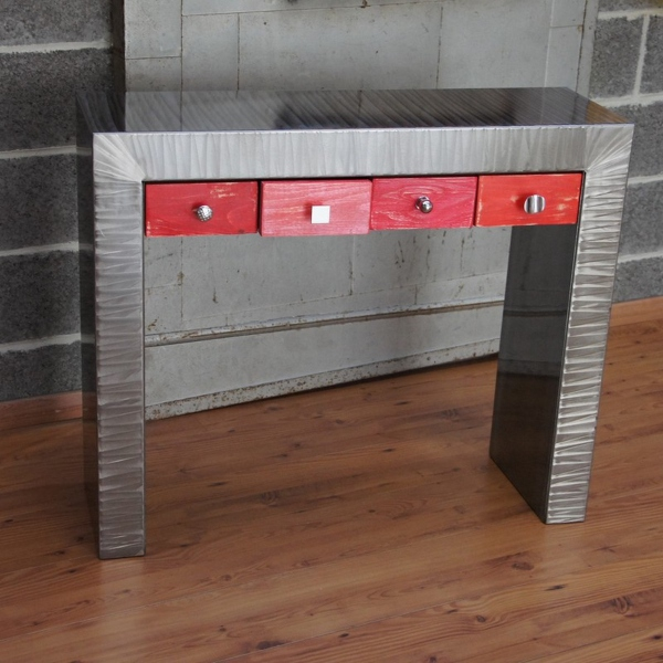 Console design console meuble meuble metal console m tal for Meuble console design